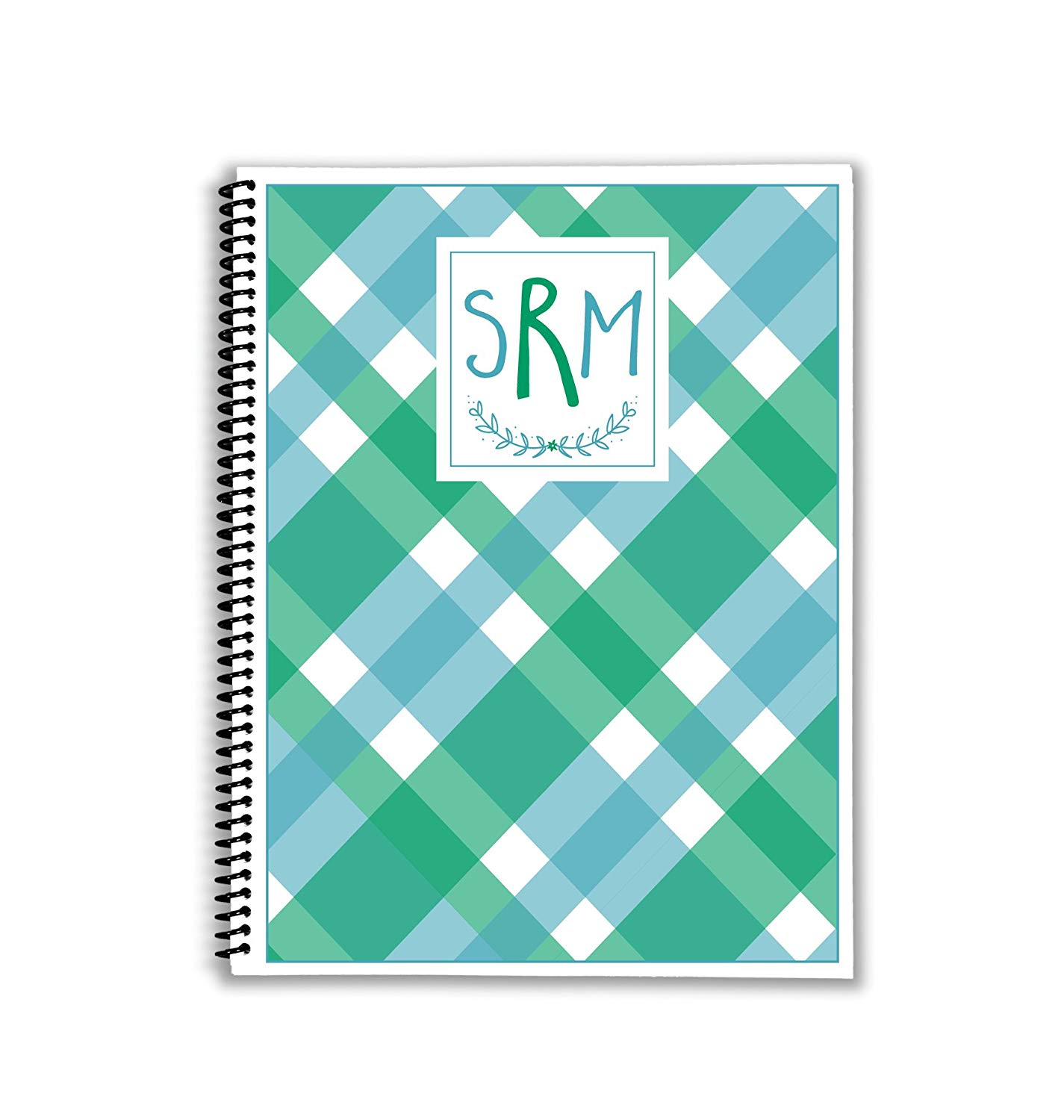 Mad About Blue Plaid Monthly and Weekly Meal Planner with Shopping Lists and Inventory Pages