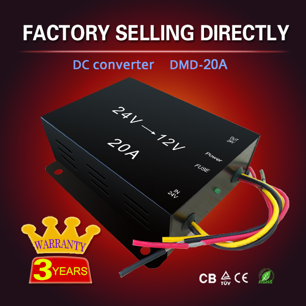 Car LED screen display step down bare board dc dc converter 24v to 12v 20A