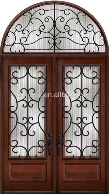 Eyebrow Top Wrought Iron Double Entry Door, Eyebrow Top Wrought ...