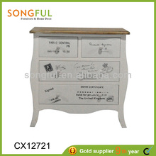 painted wooden furniture,antique white,stamp theme