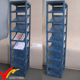 floor stand blue hand painted multi tiers Vintage wooden book rack
