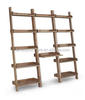 Antique Reclaimed Wood Ladder Shelf