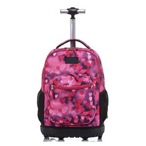 New design kids Trolley school bag Rolling Travel Backpack bag 18 inch for  School boys girls d91c46802960e