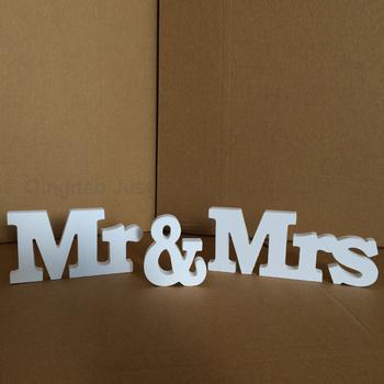 Fabrika Fiyat Katı Sermaye Mr Mrs Ahşap Harfler Düğün Dekorasyon