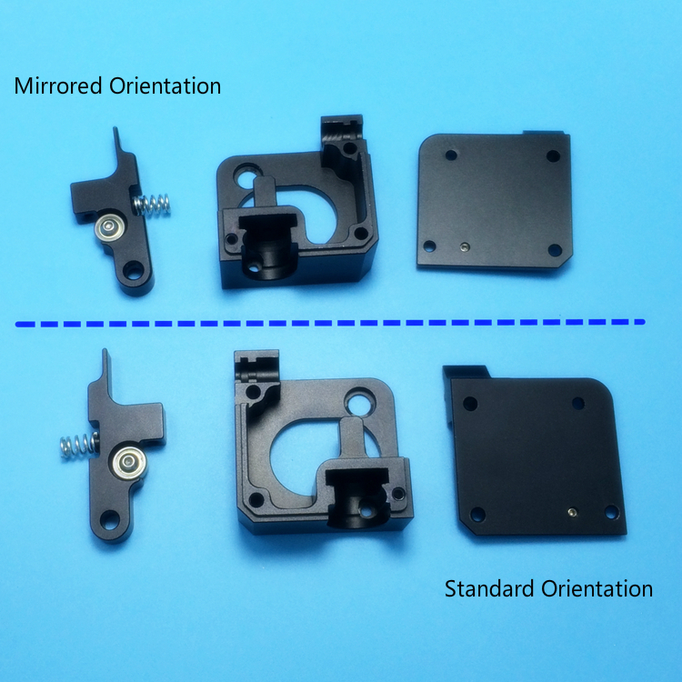 GIULY Second generation - Mirrored Orientation 3D printer spare parts for feed extruder E3D Titan Aero Feeder + E3D V6 Hot End