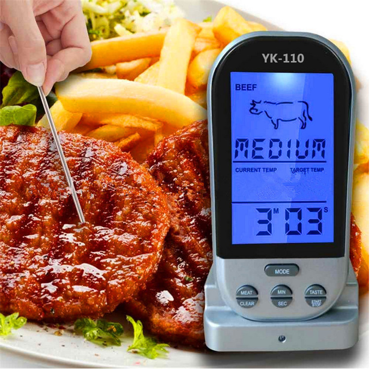 20 meters Remote Control Smart bbq wireless oven thermometer