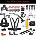 Action Camera Accessorie Set with Helmet Bicycle Mount for Gopro Xiaomi Yi 2 4k SJ5000 Sony