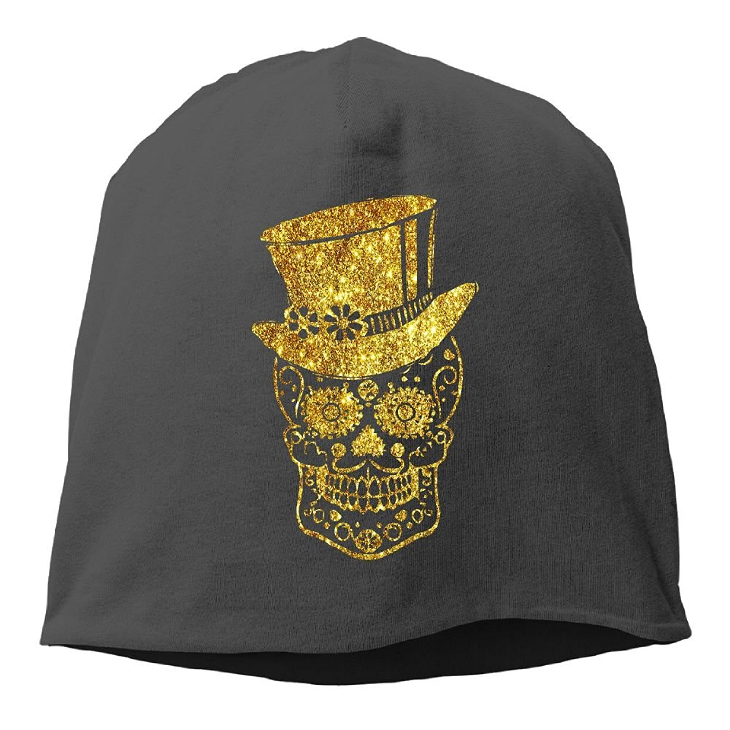 d168a88eda1 Get Quotations · XVintageSkullCap Gentleman Sugar Skull Women Men Wool Hat  Soft Stretch Beanies Skull Cap Unisex