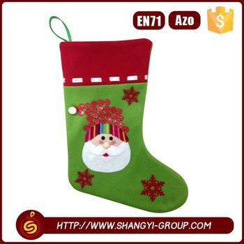 Lovely Christmas Stocking Plain Felt Sock Decoration