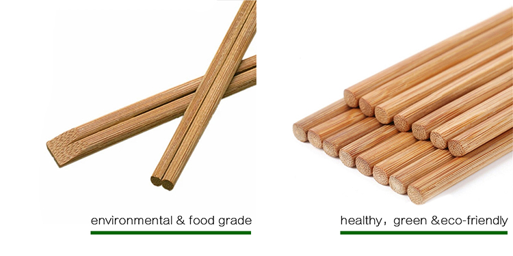 Bamboo Carbonized Disposable Chopsticks in Semi Sleeves