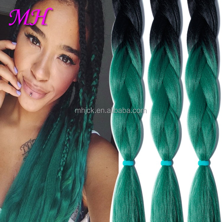 Synthetic Hair Raw Material for Xpression Synthetic Hair Braids/Synthetic Blue Ombre Braiding Hair