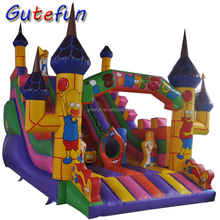 children air jumping trampoline bouncing castle combo inflatable bouncer slide for sale