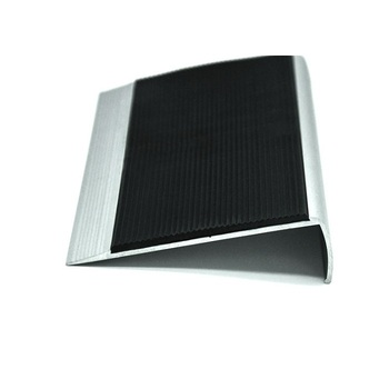 Exterior Decorative Curved Rubber Stair Treads With Aluminum Profiles