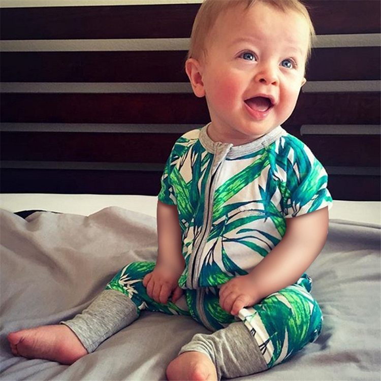 Uniesx Organic Cotton Cute Fruit Pattern Baby Jumpsuit Baby Romper