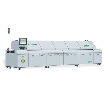 KTR-1000D SMT assembly production line automatic PCB soldering machine dual rails 10 zones hot air reflow oven