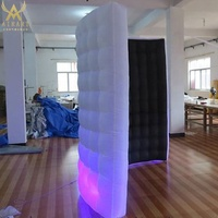stage decoration led inflatable photo booth inflatable wall