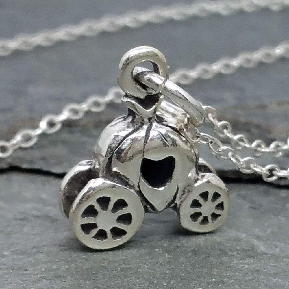 Pumpkin Carriage Necklace - 925 Sterling Silver