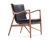 Antique style unique solid wood lounge chair antique living lounge chair Famous replica 45 lounge chair designed by Finn Juhl