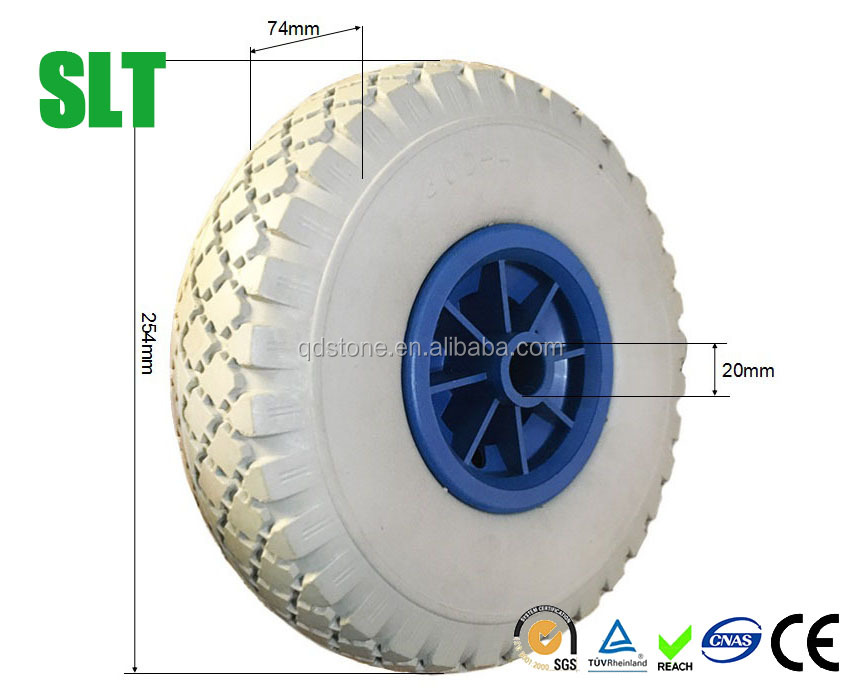 10 inch pu foam boat trailer wheel trailer trolley wheels 3.00-4