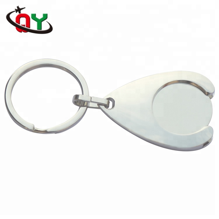 high quality flat ring bland cool custom metal keychain accessories promotional gifts key ring chain