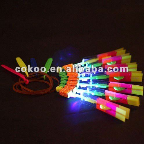 2015 best Price Hot Funny Rocket Flash Copter Arrow Helicopter Led Light