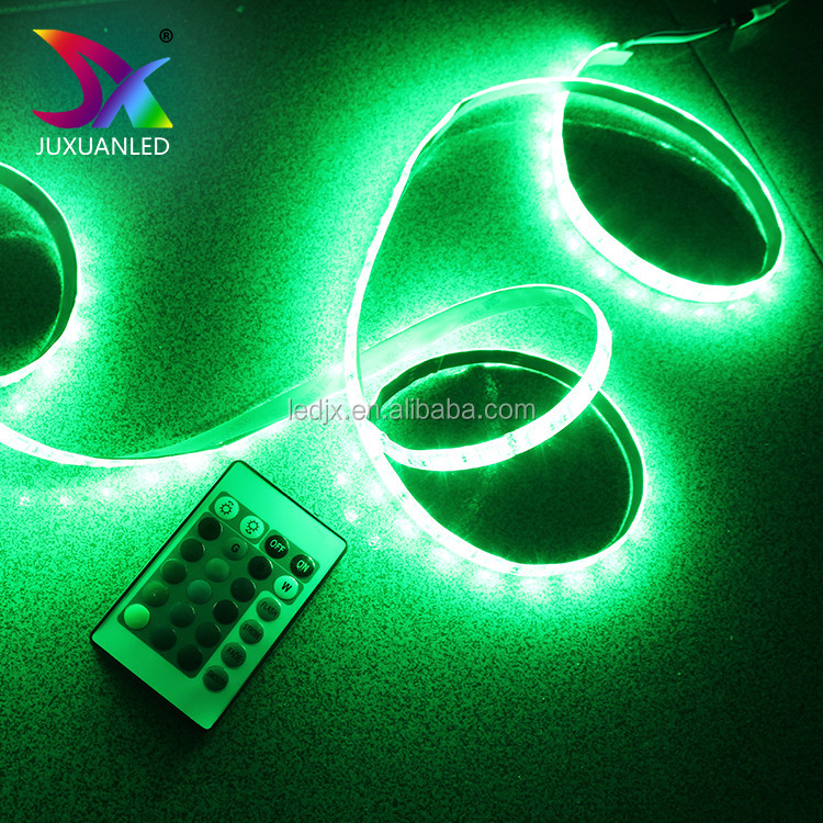 CE/RoHs Waterproof <strong>RGB</strong> IP67 led light strip 12W/M SMD 5050 flexible battery powered LED strip light Kits