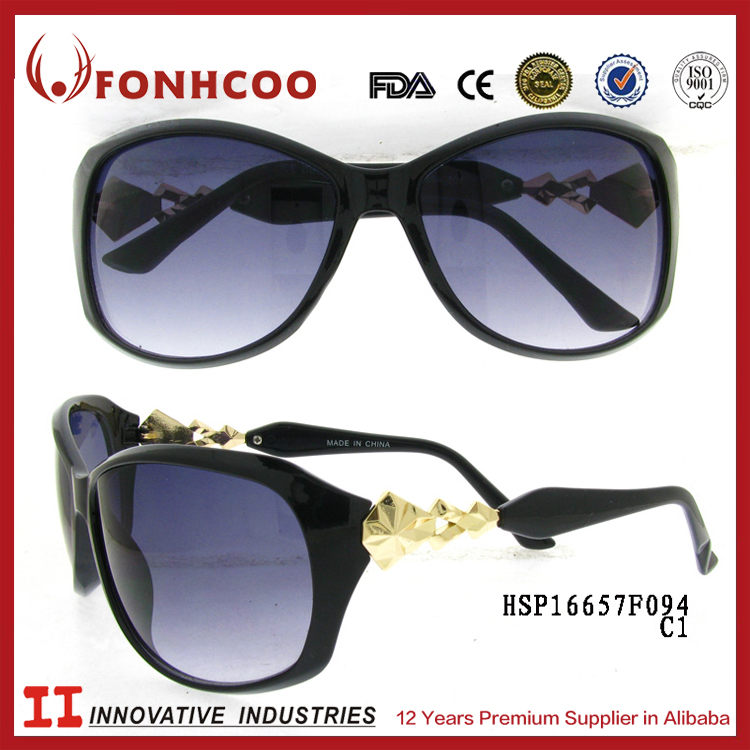 FONHCOO High Demand Products To Sell 2016 Fashion Women Black Oversized UV Variety Sunglasses