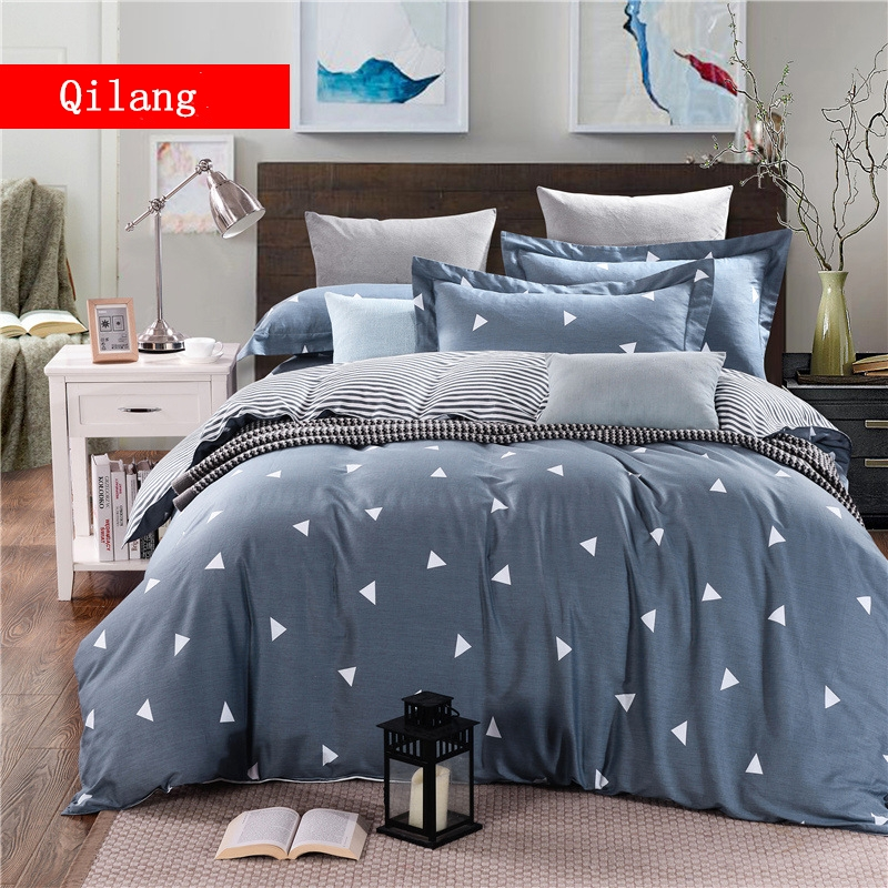 Four pieces of pure cotton jet twill for bedding set