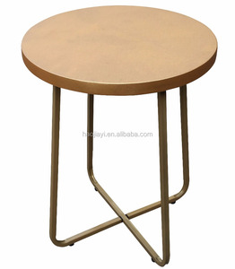 Modern metal end side table small coffee table panel wooden table simple cheaper