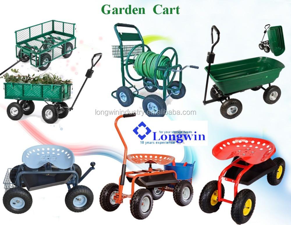 300kgs OEM Mesh Foldable Steel Garden Tool / Garden Cart / Garden Hand  Trolley
