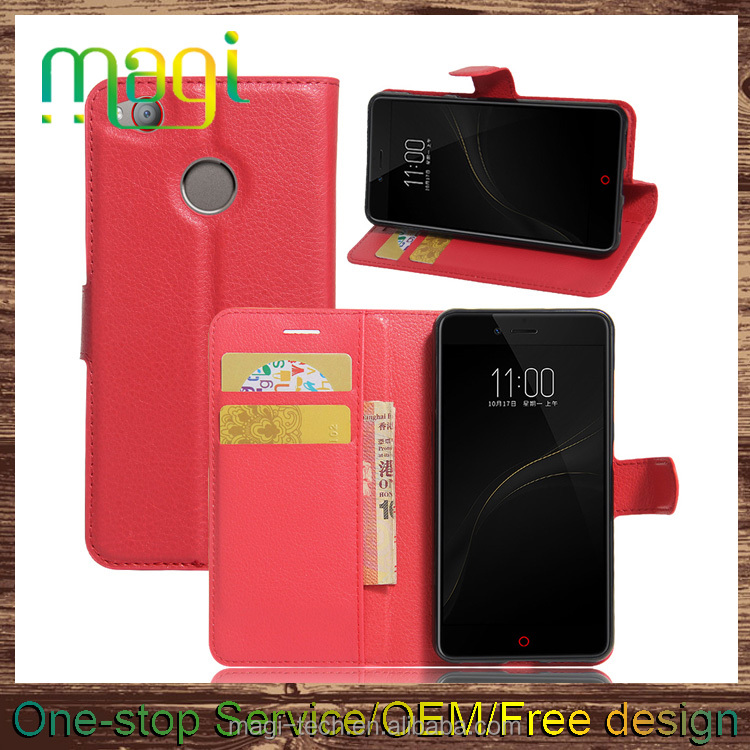 mobile phone leather case flip cover wallet case for ZTE Nubia Z11 Nubian Mavericks 6