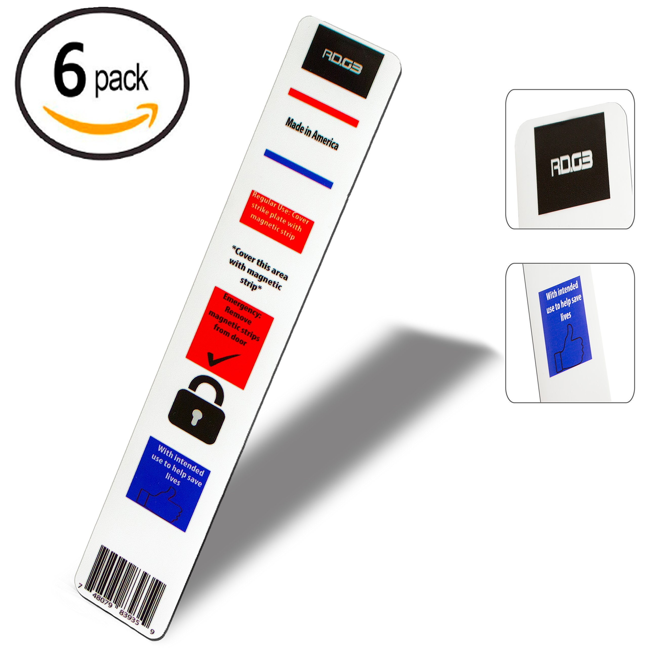 Get Quotations 6 Pack Magnet Lock Strip For Door Intruder Defense System Security School
