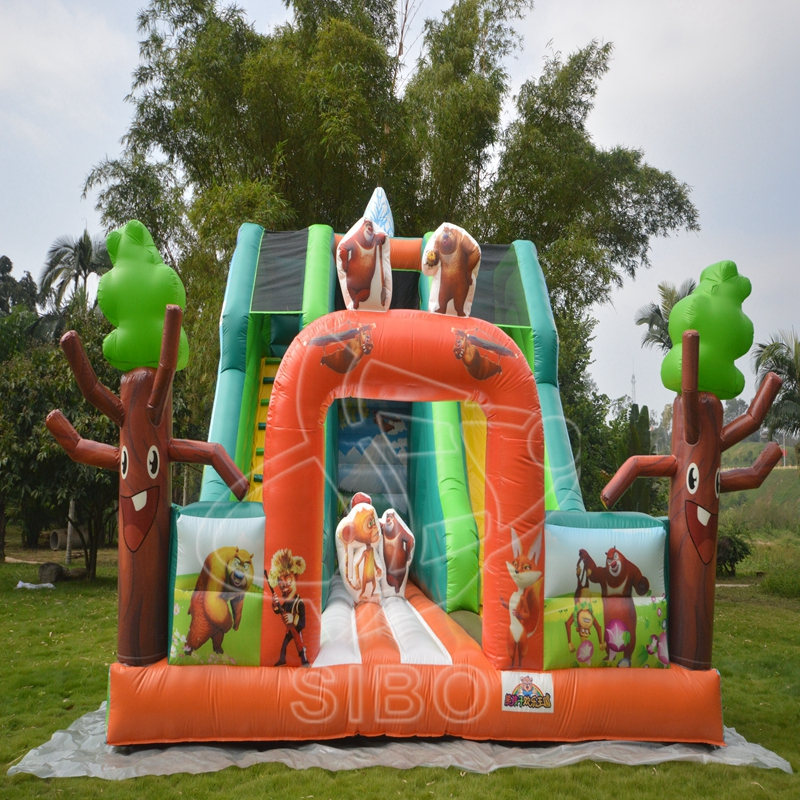 160913050 Popular design Outdoor theme slide park for kids