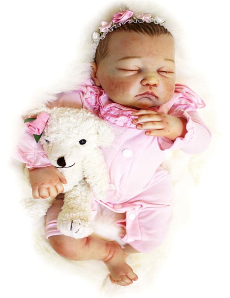 دمية نابض بالحياة للأطفال لطيف دمى أطفال حديثي الولادة بيبي تولد