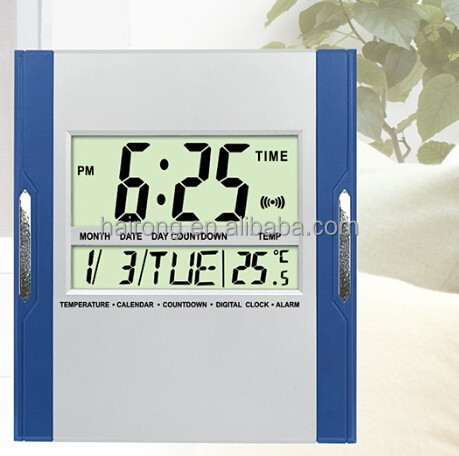 Hairong Automatic Digital Day Date Calendar Clock with Temperature Meter