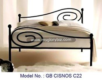 Land stijl metalen dubbele bed voor goedkope thuis slaapkamer