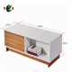 walnut and white color modern teapoy furniture