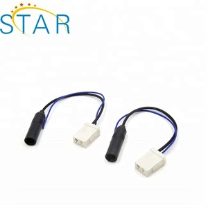 Car Radio Stereo Antenna Female Socket Adapter Connector Cable for Toyota