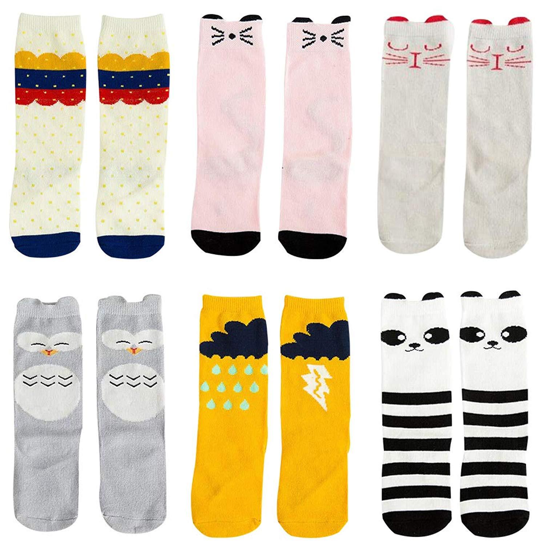 322747edb2474 6 Pairs Unisex Baby Socks Toddler Boy Animal Knee High Socks Baby Girls  Boys High Stockings