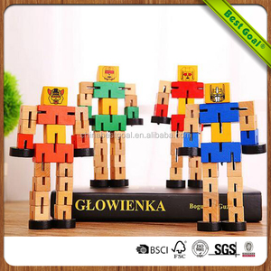 Transformable Self Assemble Wood Handmade Wooden Robot