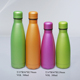 350ml 500ml Black light colors stainless steel cola vacuum bottle with lid