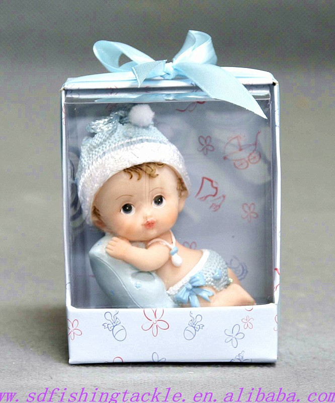 resin material lovely baby candle products