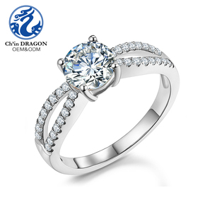 Wholesale American Diamond Jewelry White Gold 18 K With Diamond Ring
