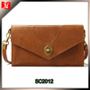 China factory envelope style ladies smart beautiful leather messenger clutch bag