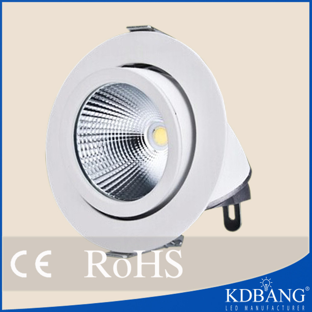 COB spotlight 360 degree Adjustable 30w led gimble downlight