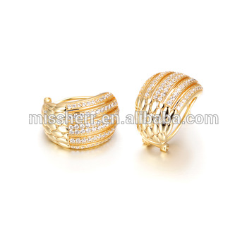 Whole Gold Earrings 2017 New Design Fashion Stud
