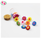 Glass Jar Packed Decorative Sun Flower Shaped Wooden Push Pin for Cork Board