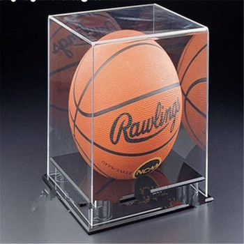 High Quality Clear Acrylic Plastic Collectible Display Case For Basketball