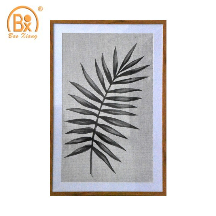 Modern Type Leaf Painting <strong>Art</strong> Made Of Linen With PS Picture Frame