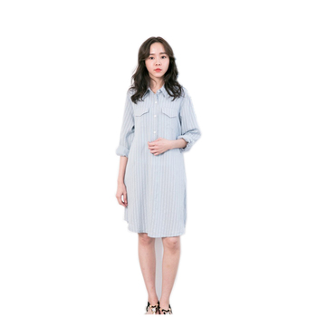 Itonia New Tfeeding Maternity Clothes Women Pregnancy Office Long Dress